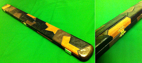 Leatherette Mixed Patchwork 3/4 Snooker Cue Case