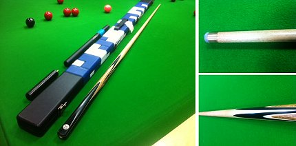 Cue and Case Offer - Handmade One Piece Snooker Cue In Maple With Case (Pro147M)