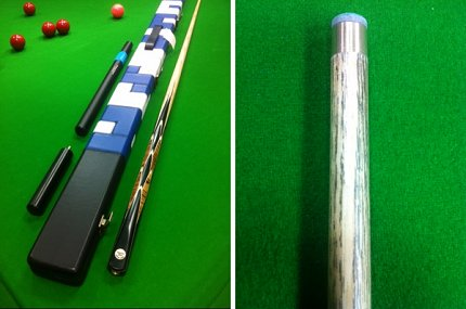 Cue and Case Offer - Handmade One Piece Snooker Cue In Ash With Case (Pro147S)