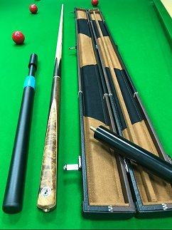 SPBRIT Britannia Brown and Rosewood Snooker Cue and Case Bundle