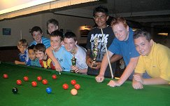 The U18s Snookerstuff.com Sponsored Tournament held at the Cue Ball Snooker Centre.2007