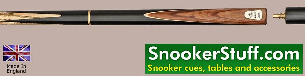 Ascot Three Quarter Jointed Snooker Cue (Ref P1223)